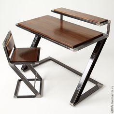 Купить Письменный стол ручной работы, идустриальный стиль. Loft life. - комбинированный, Мебель