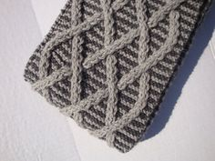 Fall Cable Scarf Womens Gray Knit Scarves Cowl by CherylsKnits