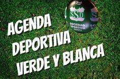 La Agenda Deportiva Verde y Blanca está disponible en www.clubssd.com.ar Water Bottle, Drinks, Day Planners, News, Budget, Green, Sports, Drinking, Beverages
