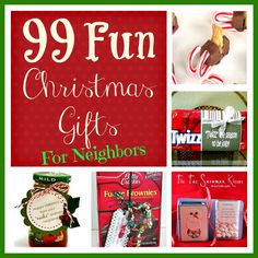99 Fun Christmas Gifts for Neighbors from SixSistersStuff.com