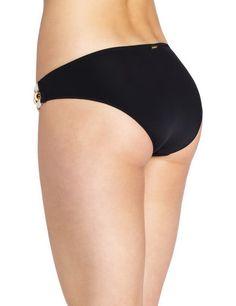 Feels So Right Modest Double Hip Piece Bottom Black Color Back. More Info & Check Price:  http://www.beachbunnybikini.com/beach-bunny-bikini-feels-so-right-modest-double-hip-piece-bottom/