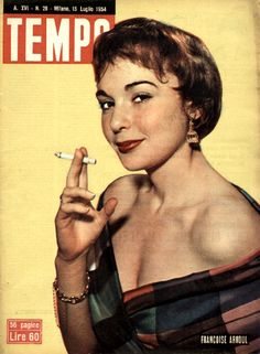French movie star Françoise Arnoul (15th July 1954).