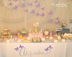 comunión mariposas- mesa dulce mariposas - fiesta temática mariposas - candy table mariposas -  mesa dulce mariposas 3