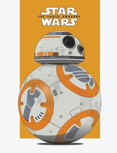 Star Wars: BB-8 - Created by Scott Bowman #bb-8 #spherobb8 #bb8 #starwars #friki