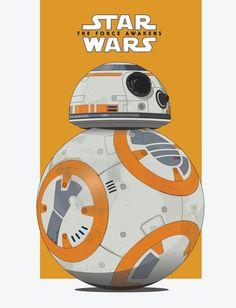 Star Wars: BB-8 - Created by Scott Bowman #bb-8 #spherobb8 #bb8 #starwars #friki