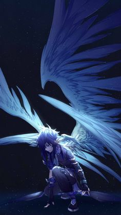 Wallpaper hd anime by zedron a.n anime demon boy, anime boys, anime angel girl Anime Demon Boy, Demon Manga, Anime Angel Girl, Anime Fallen Angel, Dark Angel Wings, Anime Boys, Fantasy Angel, Foto Fantasy, Dark Fantasy
