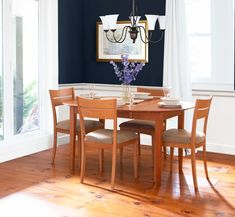 The epitome of traditional Shaker-style dining furniture.