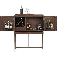 Perfection is a well stocked Bar   Bourne Bar Cabinet in Bar Cabinets | Crate and Barrel