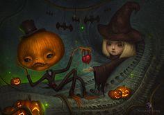 Halloween love in The Dark and Strange Universe by Liran Szeiman
