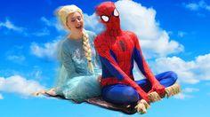Frozen Elsa & Spiderman With Flying Carpet-Elsa-Elsa Frozen-Elsa Frozen ...