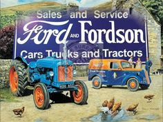 Large Metal wall sign Ford & Fordson Cars Trucks & Tractors