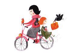 Katarina Ilkovic illustration - Babka na rebríku
