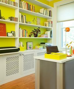 Some practical ideas that don't just amount to 'buy some cute stuff...' home office organization ideas