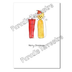 Luxury Cat Christmas Card - Christmas Present, Paradis Terrestre Christmas Cats, Christmas Presents, Wholesale Greeting Cards, Unique Cards, Print Design, Messages, Luxury, Prints, Handmade