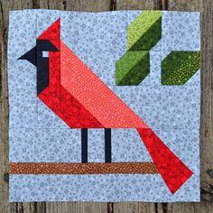 Cardinal Quilt BLOCK Pattern PDF Instant Download modern