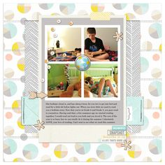 Digital Scrapbook Page by ctmm4 using Drift Away Kit by Sahlin Studio