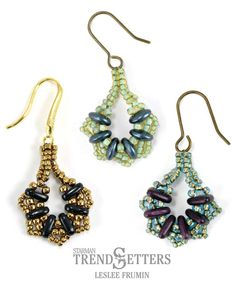 Free Serendipity Earrings Beading Tutorial featured in Bead-Patterns.com Newsletter!