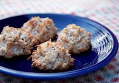 If you aren't into gluten-free flours, you'll want to make this recipe for almond and coconut macaroons. A little sugar, shredded coconut, and crushed almonds are all you need to enjoy this recipe!