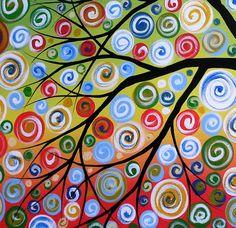 middle school art projects | swirly tree! | Middle School Art Project Ideas