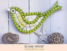 Green Primrose Mosaic Bird (£26.00)