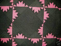 Antique Delectable Mountain Quilt | eBay