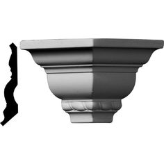 Ekena Millwork 3 in. x 3 in. x 3 in. Urethane Outside Corner Moulding (Matches Moulding Primed White Cornice Moulding, Panel Moulding, Crown Molding, Outside Corner Moulding, Shell Crowns, Ceiling Finishes, Moulding Profiles, Colored Ceiling, Refinish Kitchen Cabinets