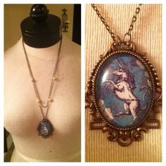 Vintage Unicorn Necklace. $65.00 dphie!