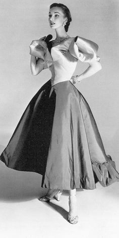 Charles James, Clover dress - 1950's - Photo by Horst P. Horst - http://www.horstphorst.com/