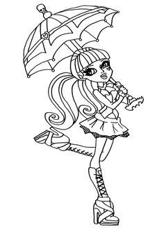 Pin Od Renata Na Inne Kolorowanki Pinterest Monster High