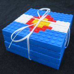 Colorado flag LEGO (R) Coaster Set and Stand by MRBrickDesigner on Etsy