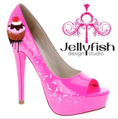 Cupcake shoes!  Who DOESN'T NEED THIS? less calories than the real thing?