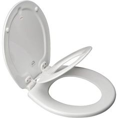 Bemis - NextStep Round Toilet Seat with Whisper Close with Easy Clean & Change Hinges and STA-TITE - White - 583SLOW 000 - Home Depot Canada