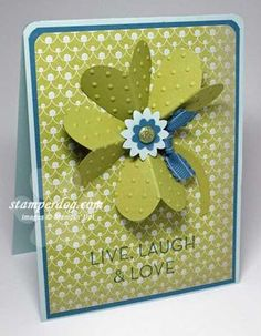 cute card made with heart punch.  So clever