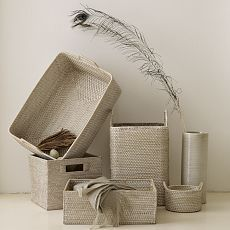 Whitewash Modern Weave Storage Collection |  $14.00 – $99.00 | West Elm