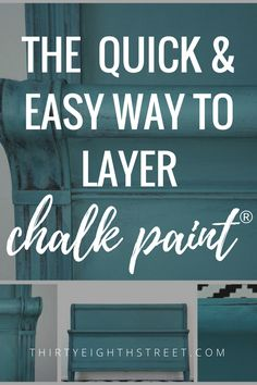 Layering Chalk Paint®. How To Layer Chalk Paint on Furniture. Chalk Painted Furniture. Before and After Furniture. #chalkpaint #chalkpaintedfurniture #beforeandafter