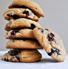 brown sugar blueberry cookies - add white choc chips. Courtesy of sister. Thanks, sister!! xo