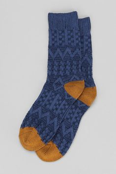 Textured Zigzag Cap Sock - Urban Outfitters