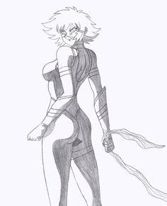 Spirit - Dynamic Pose - Line-Art by Kaizer617