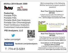 Our schedule at #AIHce 2014 #pidanalyzers