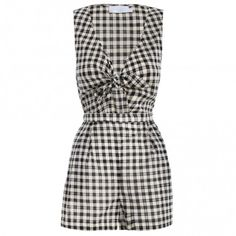 ZIMMERMAN MYSTIC KNOT PLAYSUIT IN BLACK/WHITE