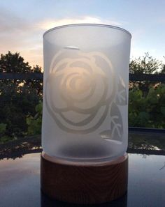 Rose Hurricane Lantern - Light Up Our Gallery Entry - Delphi Artist Gallery Glass Lamps, Glass Art, Hurricane Lanterns, True Grit, Artist Gallery, Recycled Glass, Mosaics, Light Up, Stained Glass