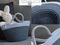 Kindertasche Baumwolle hellgrau dunkelgrau DUO 17