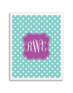 Download and print this free polka dot monogram maker. Just follow the directions below to make your own monogram!