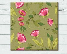 Rose Print Flowers Wrapped Canvas Print. Wall home by RimonimArt, $31.00