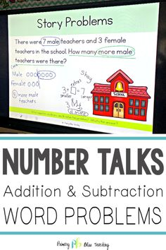 How To Produce Elementary School Much More Enjoyment Word Problems Can Be Challenging For Students. This Set Of Word Problem Number Talks For Addition And Subtraction To 10 Are Guaranteed To Make Understanding Story Problems A Breeze. They Are Common Core First Grade Words, First Grade Lessons, First Grade Activities, Teaching First Grade, First Grade Math, Math Lessons, Teaching Time, Student Teaching, Math Skills
