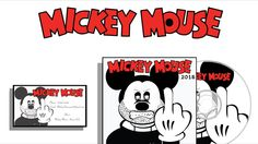 Bad Micky mouse, cd cover, disc and business card