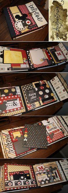 Disney Mini Album x Say Cheese Simple Stories PDF Tutorial scrapbook disney Scrapbooking Stickers, Scrapbooking Album, Mini Albums Scrapbook, Diy Album Photo, Mini Albums Photo, Diy Photo, Ideas Scrapbook, Disney Scrapbook Pages, Tutorial Scrapbook