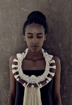 ethnic inspiration contemporary necklace by NAMARIETTI
