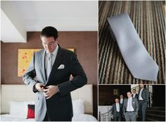Garden Wedding Fashion | #greysuit #silvertie #Groomsmen | Photos: Kristyn Hogan #cjsoffthesquare