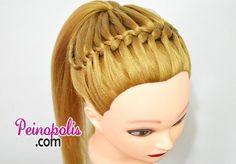 Las coletas con trenzas diadema para cabello largo siempre estan de moda, aprender a trenzar tu pelo te hara lucir un estilo unico.